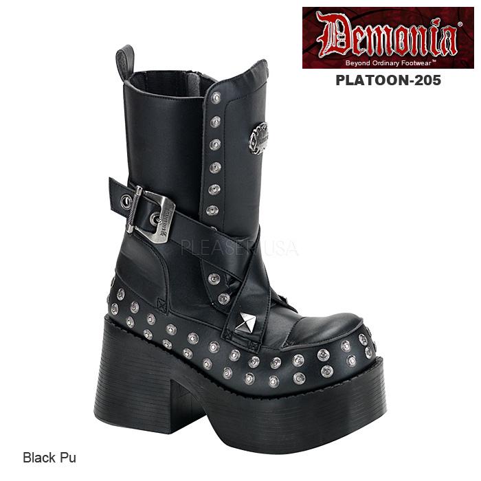 DEMONIA(デモニア) 厚底ショートブーツ PLATOON-205◆取り寄せ