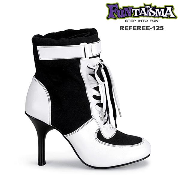 FUNTASMA 珍しいキャンバス素材のハイヒールショートブーツ PL-REFEREE-125◆取り寄せ