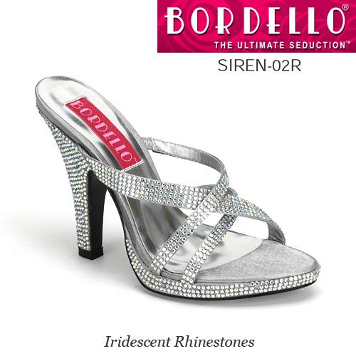 BORDELLO きらきらラインストーンサンダル PL-Siren-02R ◆取り寄せ