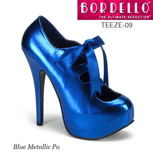 BORDELLO サテンレースアップリボンパンプス PL-Teeze-09 ◆取り寄せ