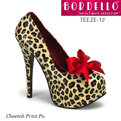 BORDELLO リボン飾りのハイヒールパンプス PL-Teeze-12 ◆取り寄せ