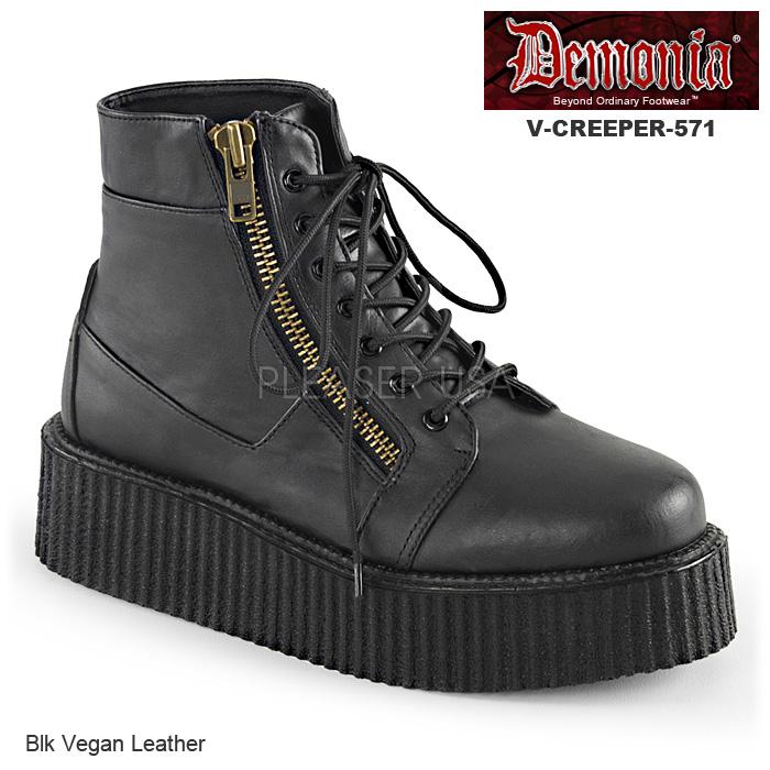 DEMONIA(デモニア) Men's/Unisex クリーパーブーティ 厚底靴 V-CREEPER-571 マットブラック◆取り寄せ