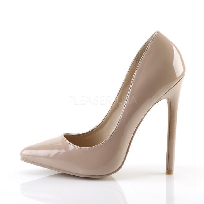 在庫処分送料無料 Pleaser プリーザー レディース ポインテッドトゥ パンプス ハイヒール エナメルヌード ピンヒール 約12 5cmヒール ポールダンス 靴 コスプレ 衣装 ライブ SEXY 20 SEXY20 NU8nmN0w