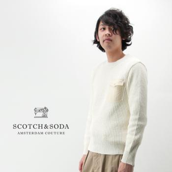 【SALE 40%OFF】Scotch&Soda スコッチ&ソーダ メンズ ボーダーサマーニットプルオーバー[292-15402/15401]【SS】【返品交換不可】