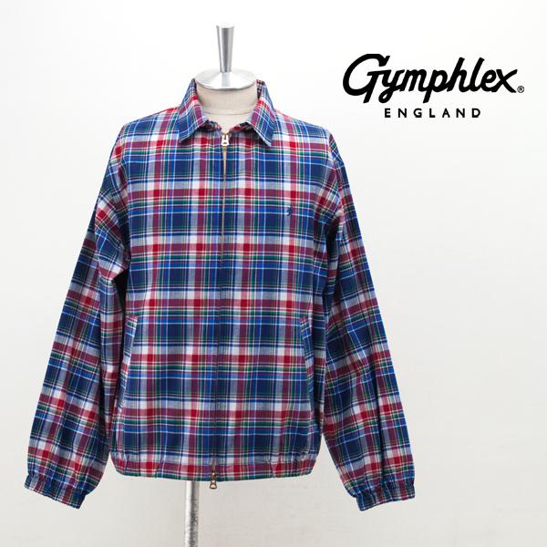 Gymphlex ジムフレックス メンズ マドラスチェック シャツブルゾン[J-1358BGM]【2019SS】