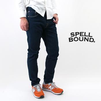 SPELL BOUND スペルバウンド メンズ セルビッジ ストレッチデニム ダークブルー[40-171C]【FW】