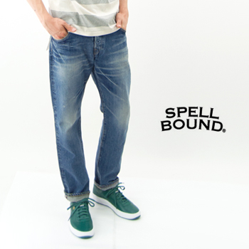 SPELL BOUND スペルバウンド メンズ 5Pテーパードフィットパンツ 淡色[43-505B 27-3]【BASIC】