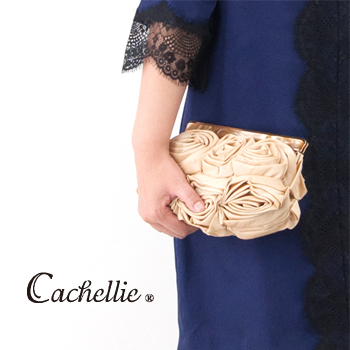 Cachellie カシェリエ FLOWER CLUTCH[51-6615/16/18]