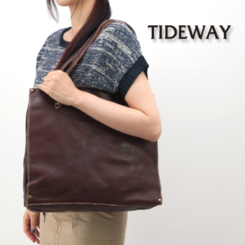 【SALE 30%OFF】TIDE WAY タイドウェイ OIL WASHED TOTE[61-2563/61-2564/61-2612]【FW】【返品交換不可】