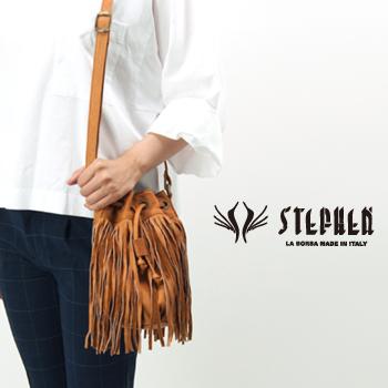 STEPHEN ステファン フリンジ付きレザーバッグ[F9907]