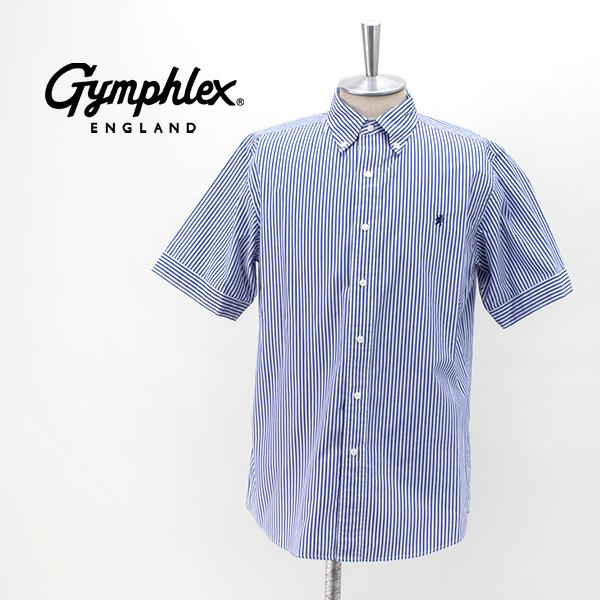 Gymphlex ジムフレックス メンズ ストライプ/ギンガムチェックシャツ[J-1421TSS]【2020SS】