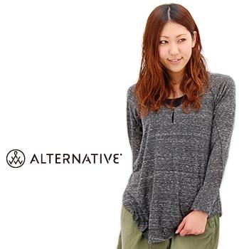 alternative apparel オルタナティブアパレル レディース Hazel Button Down Top[32034EL]【SS】(F-5)