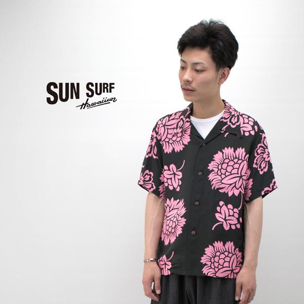SUN SURF サンサーフ メンズ HAWAIIAN PAREU レーヨンハワイアンシャツ[SS38041]【2019SS】