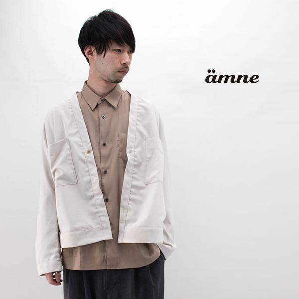 amne アンヌ メンズ トリップカナパカーディガン[amn-BL-001]【2020SS】