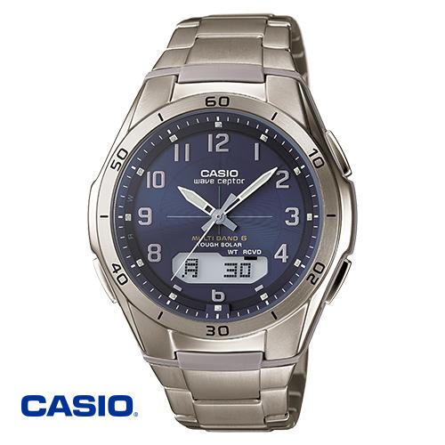 カシオ・純チタン電波ソーラー腕時計 通販限定モデル【ソーラー電波 時計 軽量 CASIO WVA-M640TD-2AJF】【送料無料】