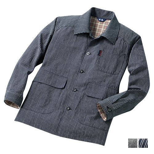 日本製・紳士亀田縞ジャケット シャツジャケット 春 秋 メンズ 綿100% 37270】【送料無料】