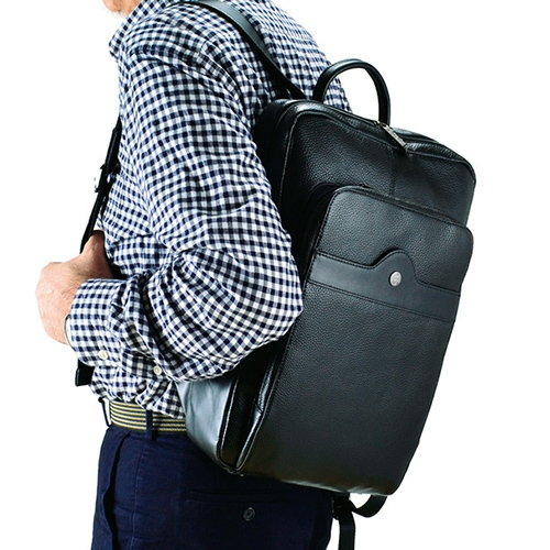 トロイ・ブロス 牛革スクエアリュック 【 本革 レザー バッグ A4 メンズ ビジネス 】【送料無料】