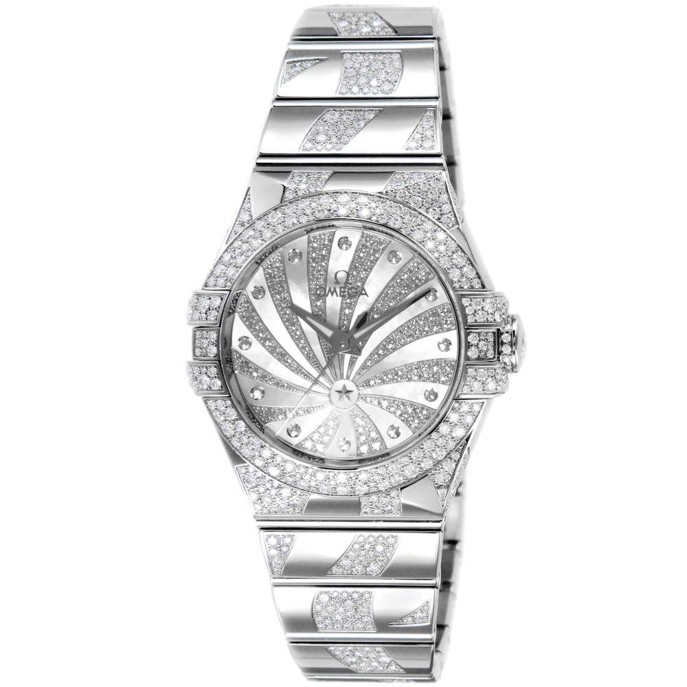 金無垢 腕時計 オメガ OMEGA コンステレーション レディース 時計 腕時計 OMS-12355312055009 高級腕時計 ブランド スイス とけい ウォッチ 新品 PURE GOLD WATCH