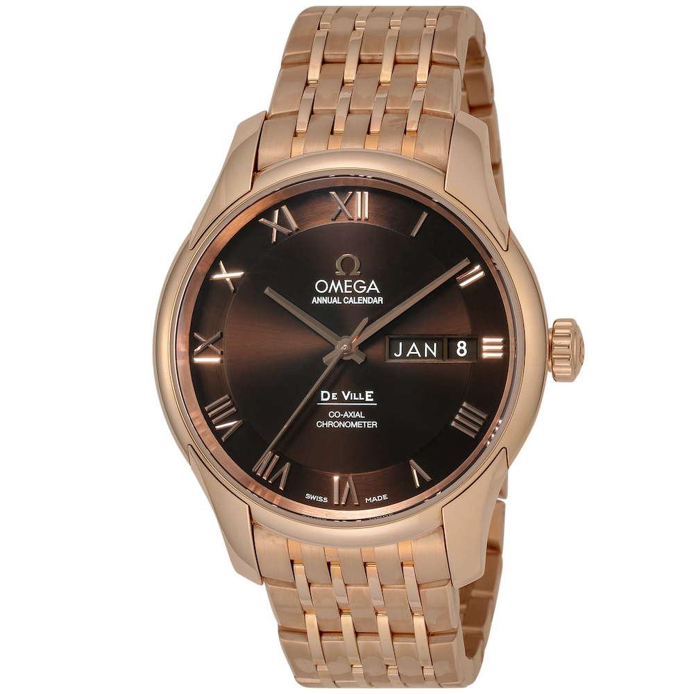 金無垢 腕時計 オメガ OMEGA デ・ヴィル メンズ 時計 腕時計 OMS-43150412213001 高級腕時計 ブランド スイス とけい ウォッチ 新品 PURE GOLD WATCH