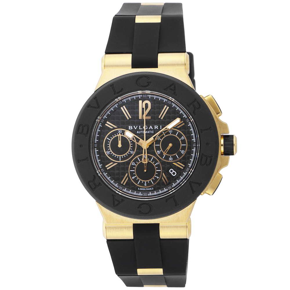 金無垢 腕時計 ブルガリ BVLGARI DIAGONO ディアゴノ メンズ 時計 腕時計 BVS-DG42BGVDCH ブランド とけい ウォッチ 新品 PURE GOLD WATCH
