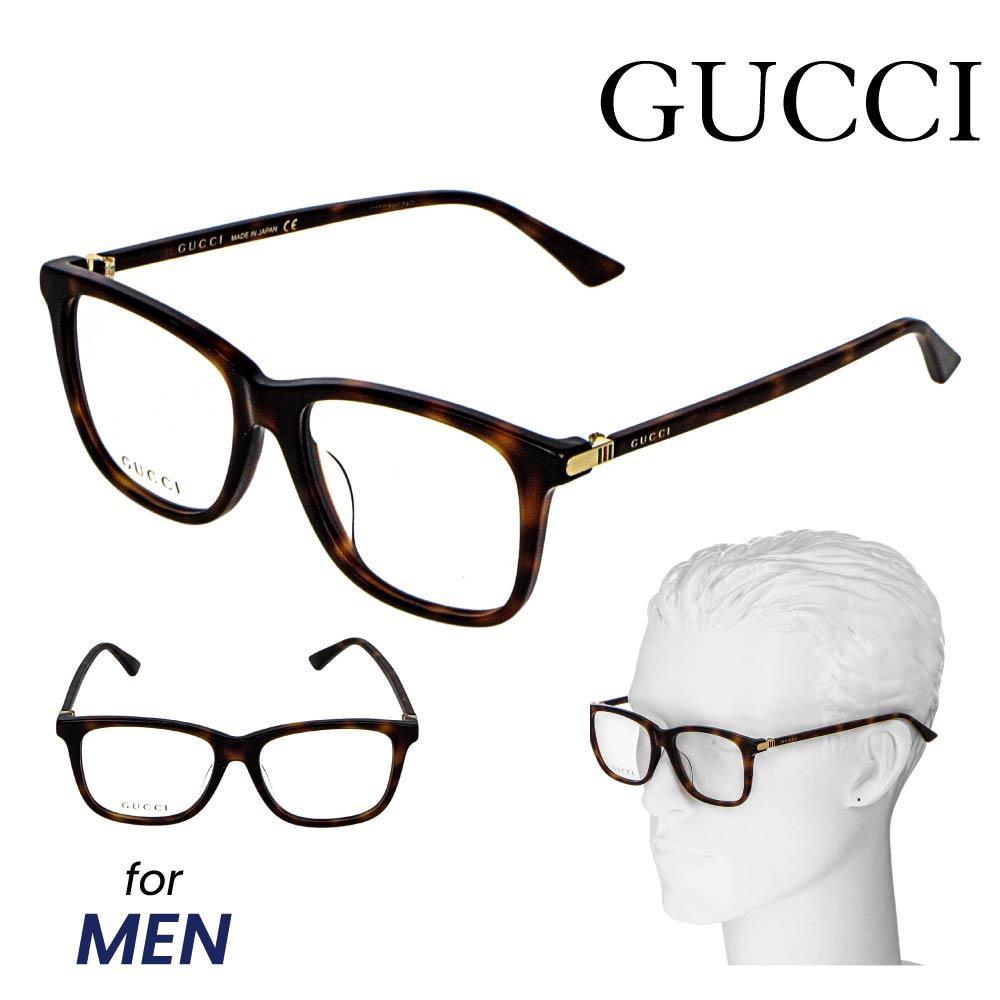 グッチ GUCCI メンズ メガネ 眼鏡 メガネフレーム ファッション 伊達メガネ アイウェア アイテム 小物 ブラウン系 GG0018OA