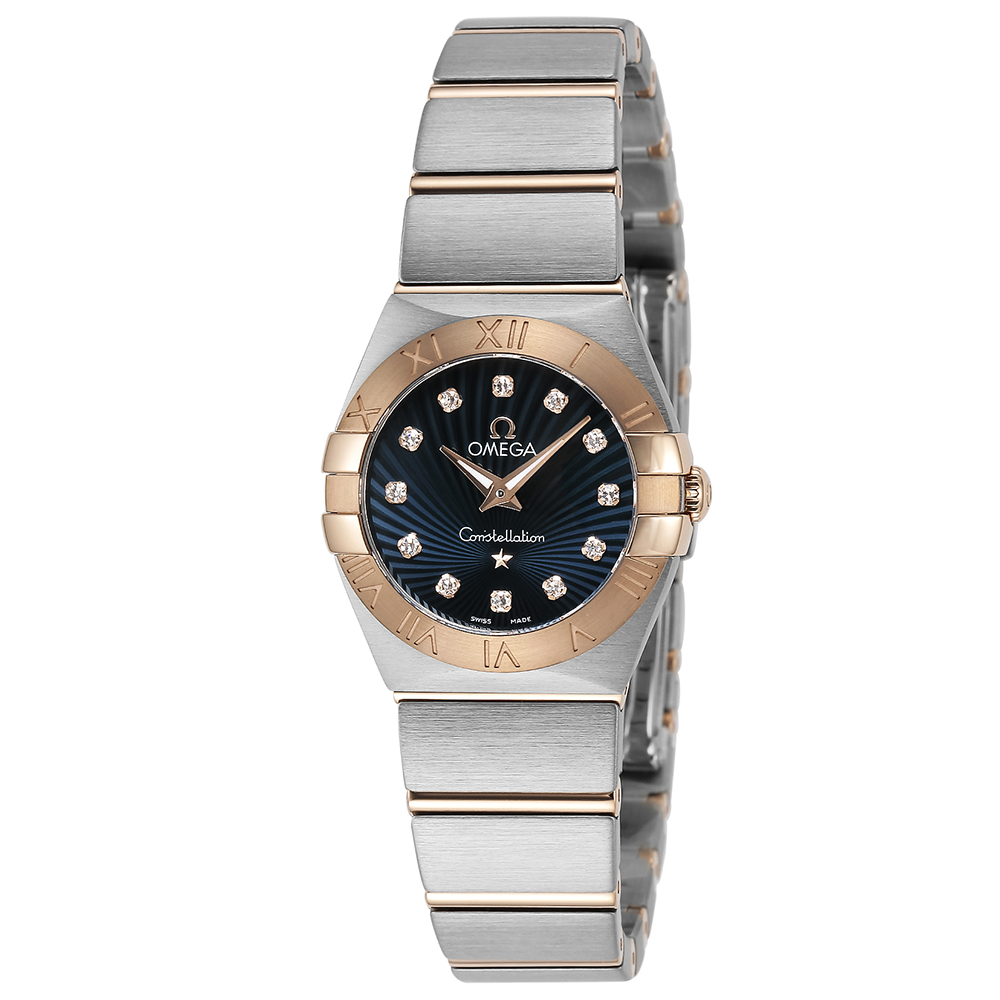 あす楽 送料無料 オメガ OMEGA 時計 腕時計 123.20.24.60.53.001 メイルオーダー レディース 送料無料限定セール中 高級腕時計 ブランド コンステレーション 2 ブルー スイス 25 クォーツ 23:59迄 ウォッチ ポイント10倍 とけい