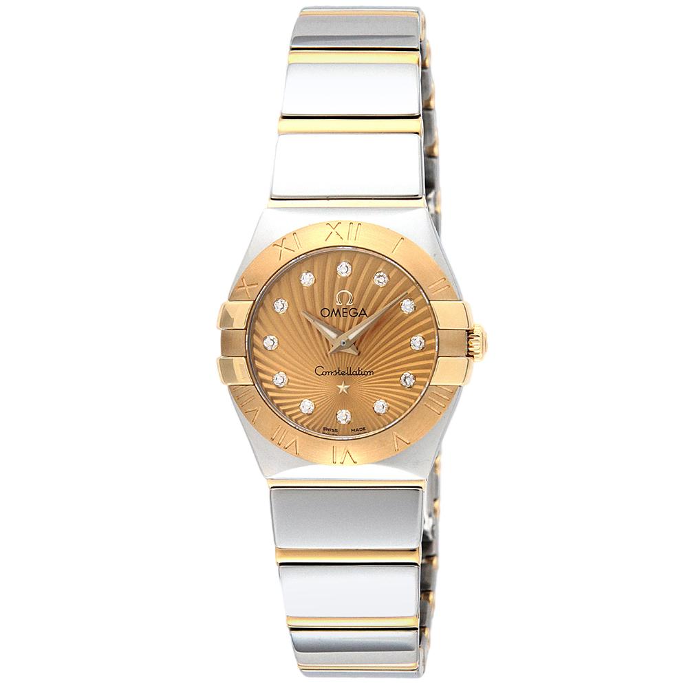 あす楽 送料無料 オメガ OMEGA 時計 腕時計 123.20.24.60.58.002 レディース 高級腕時計 ブランド 25 コンステレーション イエロー 売店 とけい スイス ウォッチ 2 23:59迄 ポイント10倍 超定番 クォーツ