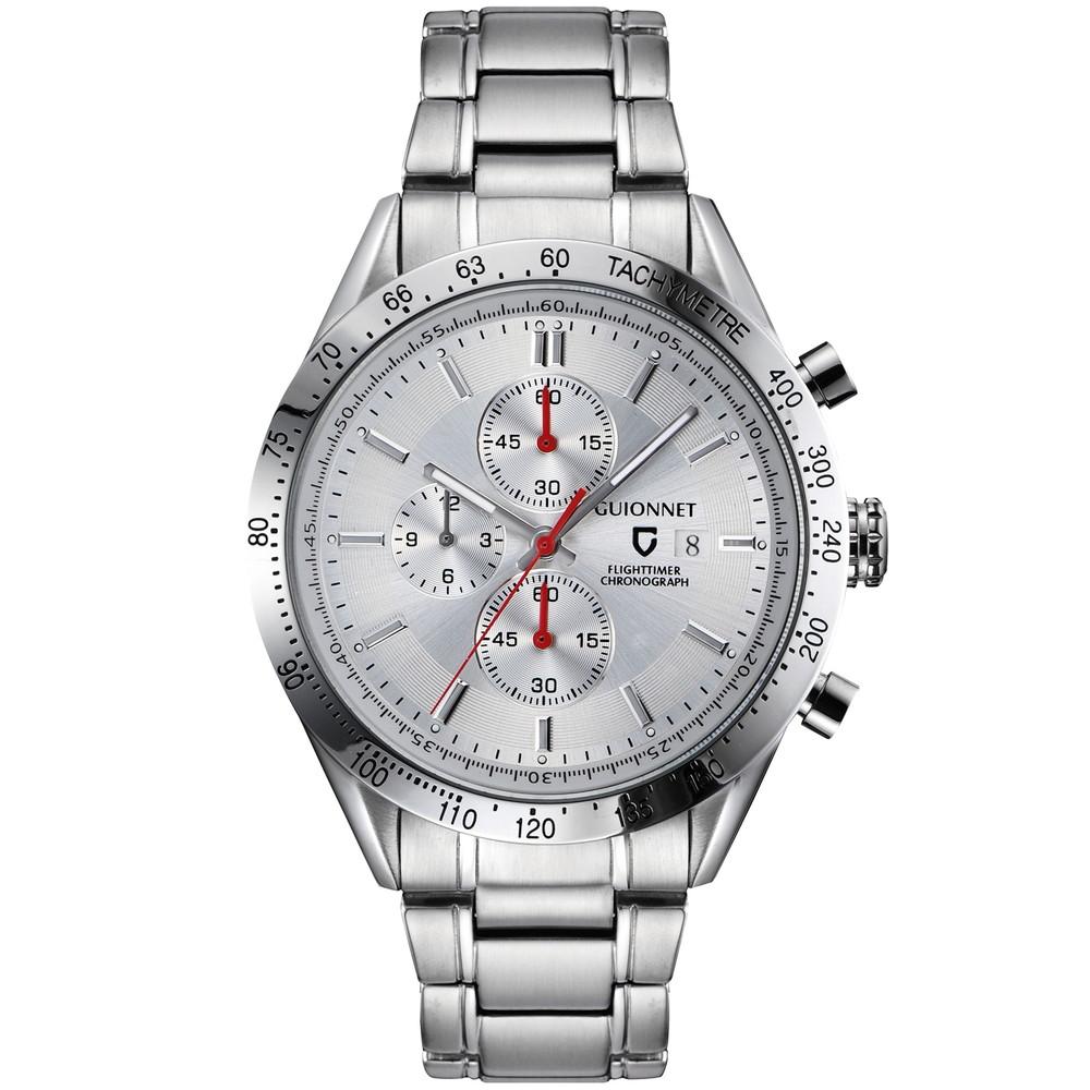 ギオネ GUIONNET フライトタイマー タキメータークロノグラフ メンズ 時計 腕時計 PG-FC42SSV を極めるレーシングクロノグラフ。この高級感、まさにエレガントスポーティーの頂点【ブランド】 とけい ウォッチ