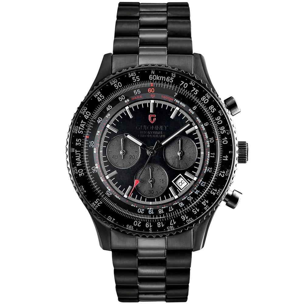 ギオネ GUIONNET フライトタイマー パイロットクロノグラフ メンズ 時計 腕時計 PG-FT42BBO デキるおしゃれ男が選ぶ本格パイロット・クロノグラフ FT42 フライトタイマー【ブランド】 とけい ウォッチ