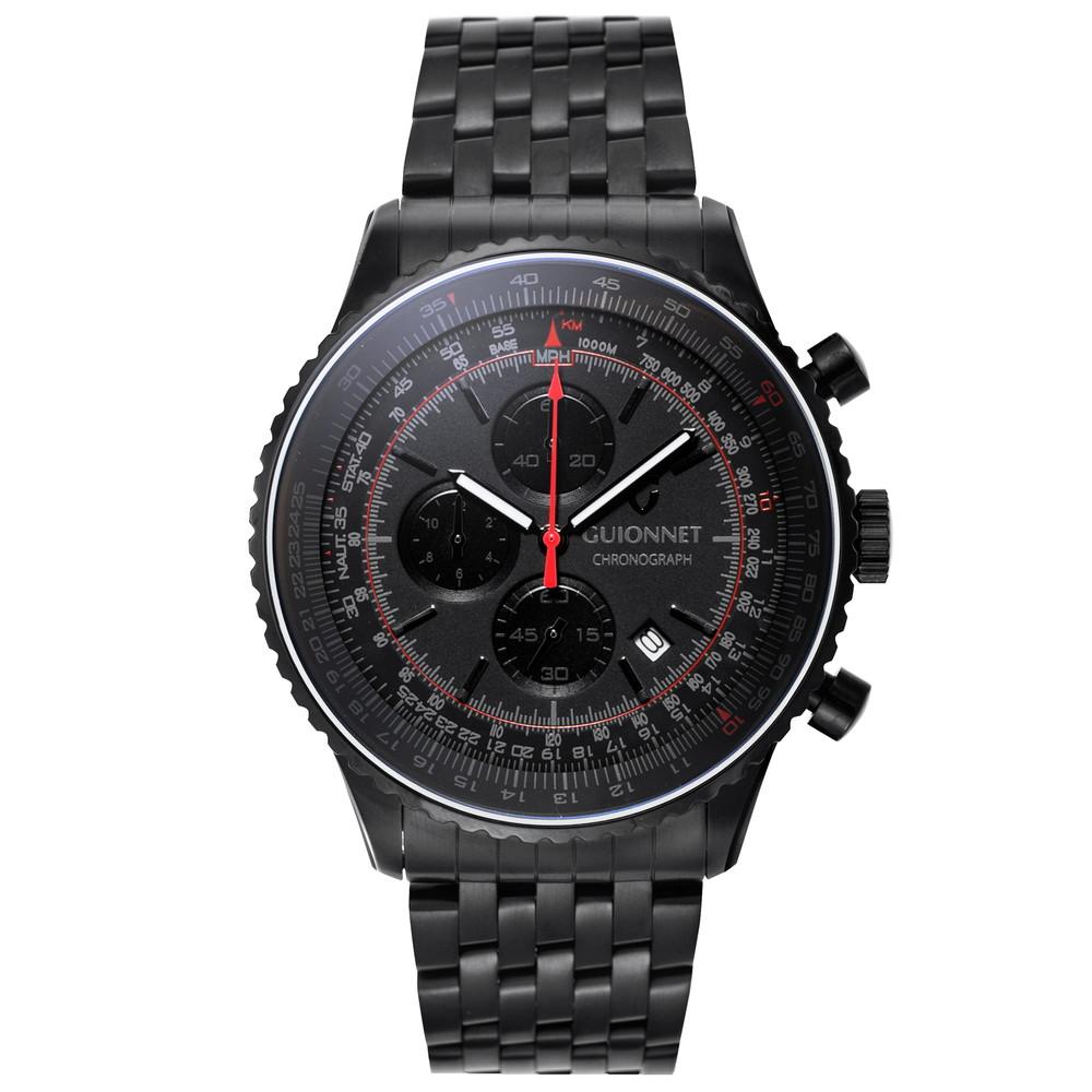 ギオネ GUIONNET Flight Timer Professional メンズ 時計 腕時計 PG-FT44BBO 【ブランド】 とけい ウォッチ 1位(12月4日現在) プレゼント 送料無料 あす楽 ブルーインパルス コラボ レザーベルト 無反射コーティング