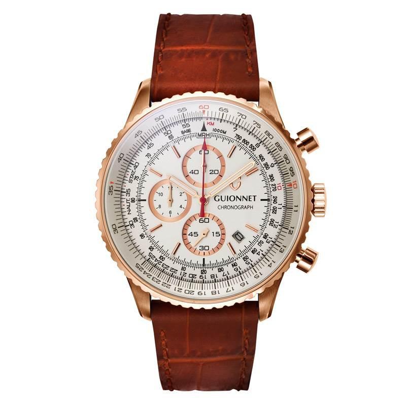 ギオネ GUIONNET Flight Timer Professional メンズ 時計 腕時計 PG-FT44PIVCA 【ブランド】 とけい ウォッチ 1位(12月4日現在) プレゼント 送料無料 あす楽 ブルーインパルス コラボ レザーベルト 無反射コーティング