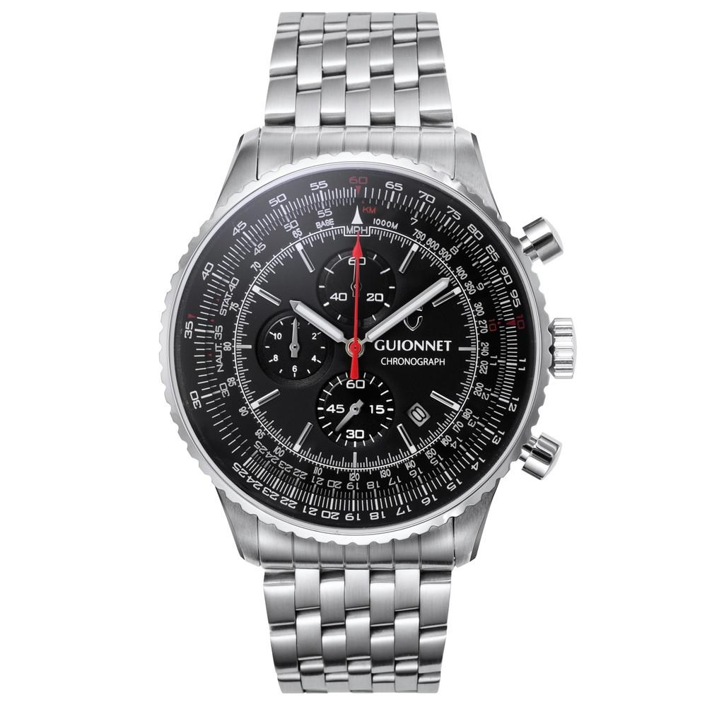 ギオネ GUIONNET Flight Timer Professional メンズ 時計 腕時計 PG-FT44SBK 【ブランド】 とけい ウォッチ 1位(12月4日現在)