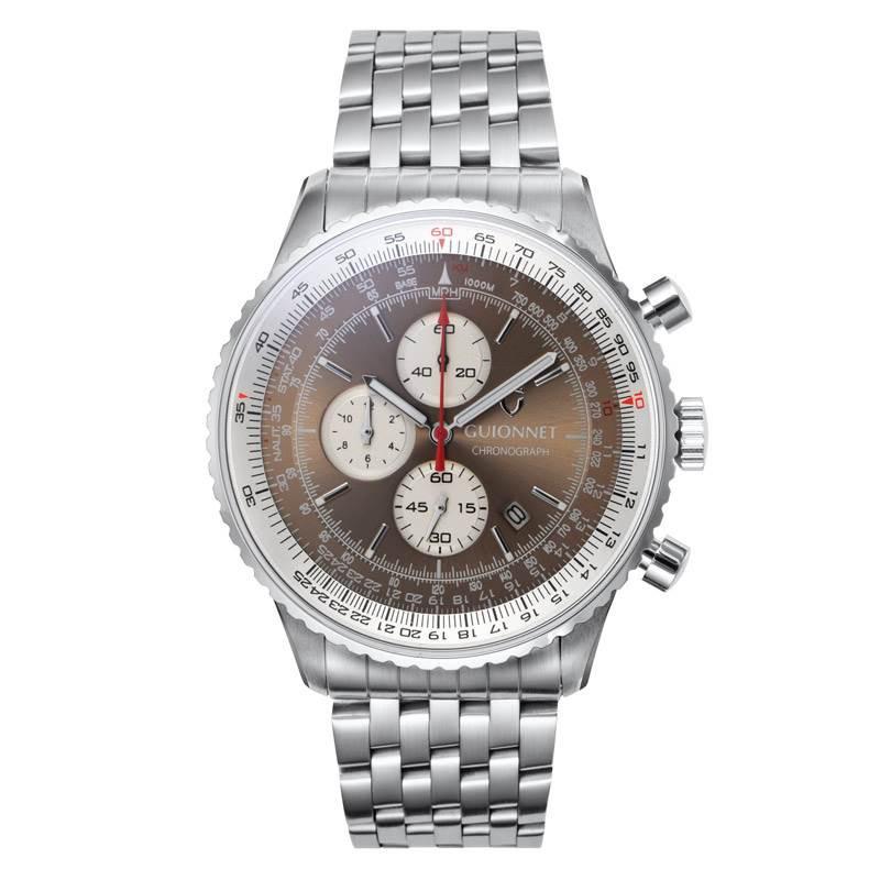 ギオネ GUIONNET Flight Timer Professional メンズ 時計 腕時計 PG-FT44SBR 【ブランド】 とけい ウォッチ 1位(12月4日現在) プレゼント 送料無料 あす楽 ブルーインパルス コラボ レザーベルト 無反射コーティング