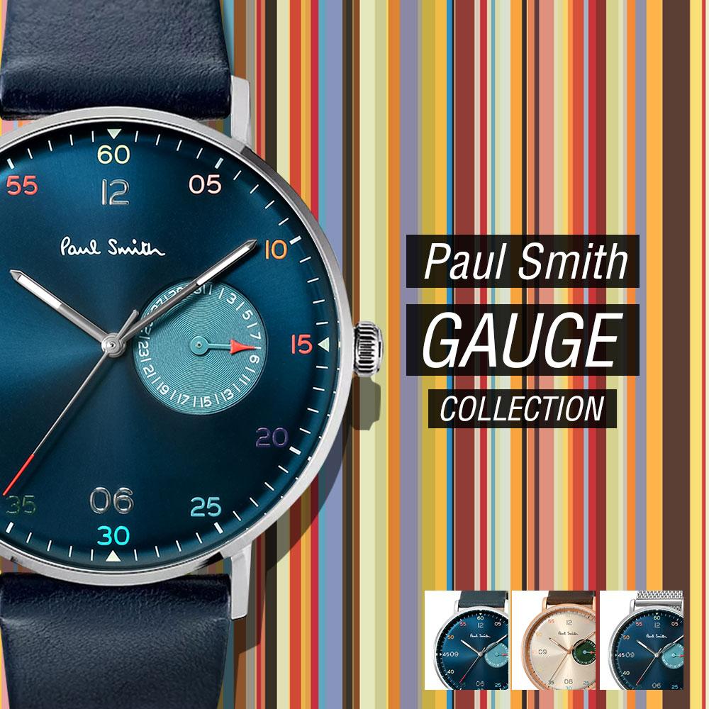 ポールスミス Paul Smith GAUGE PaulSmith メンズ 時計 腕時計 【 PS0060004 PS0060005 PS0060006 とけい ウォッチ プレゼント ギフト ポール スミス レザー 革 メタル バンド 送料無料 日付 43mm 】お一人様2点まで