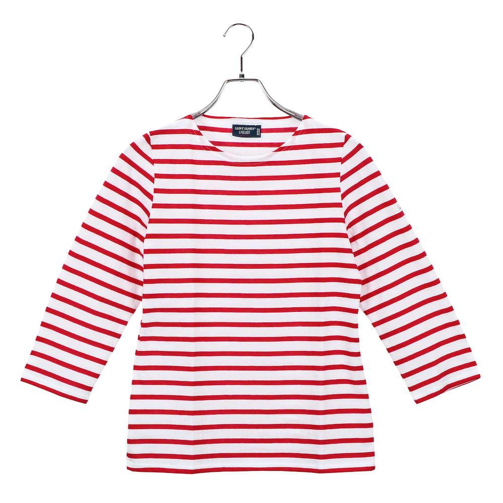 セントジェームス SAINT JAMES GALATHEE  ユニセックス トップス Tシャツ - 長袖 7部丈 ボーダー ガラテア ブランド ティーシャツ シャツ カットソー カジュアル