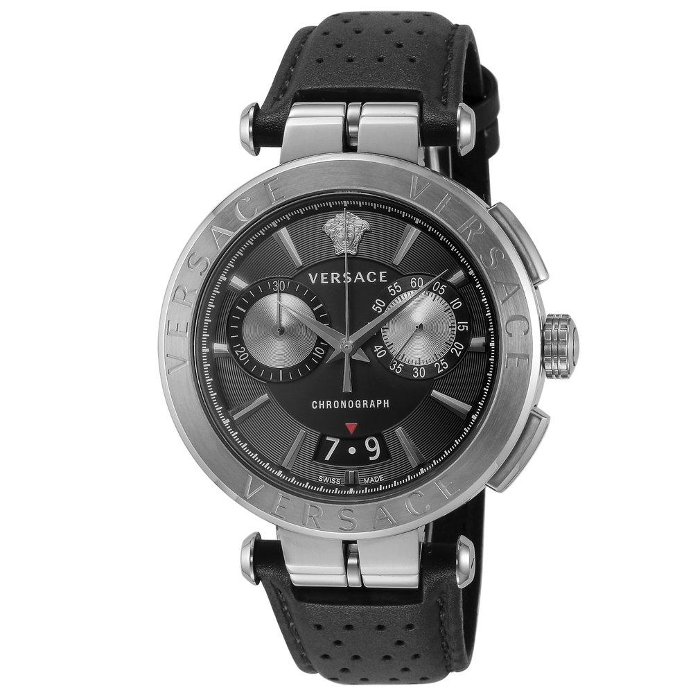 あす楽 送料無料 ヴェルサーチェ VERSACE 時計 特別セール品 腕時計 VE1D00719 メンズ 高級腕時計 ラグジュアリー ブラック ウォッチ 15 クォ-ツ 付与 23:59迄 とけい AION ブランド 3 ポイント5倍