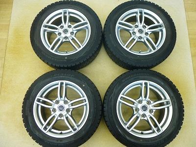 中古 スタッドレス タイヤ アルミホイール付 ダンロップ ウインターマックス WM01 205/60R16 4本 BMW ミニ クロスオーバー(R60/R61)等に 中古 スタッドレス タイヤ 【中古】