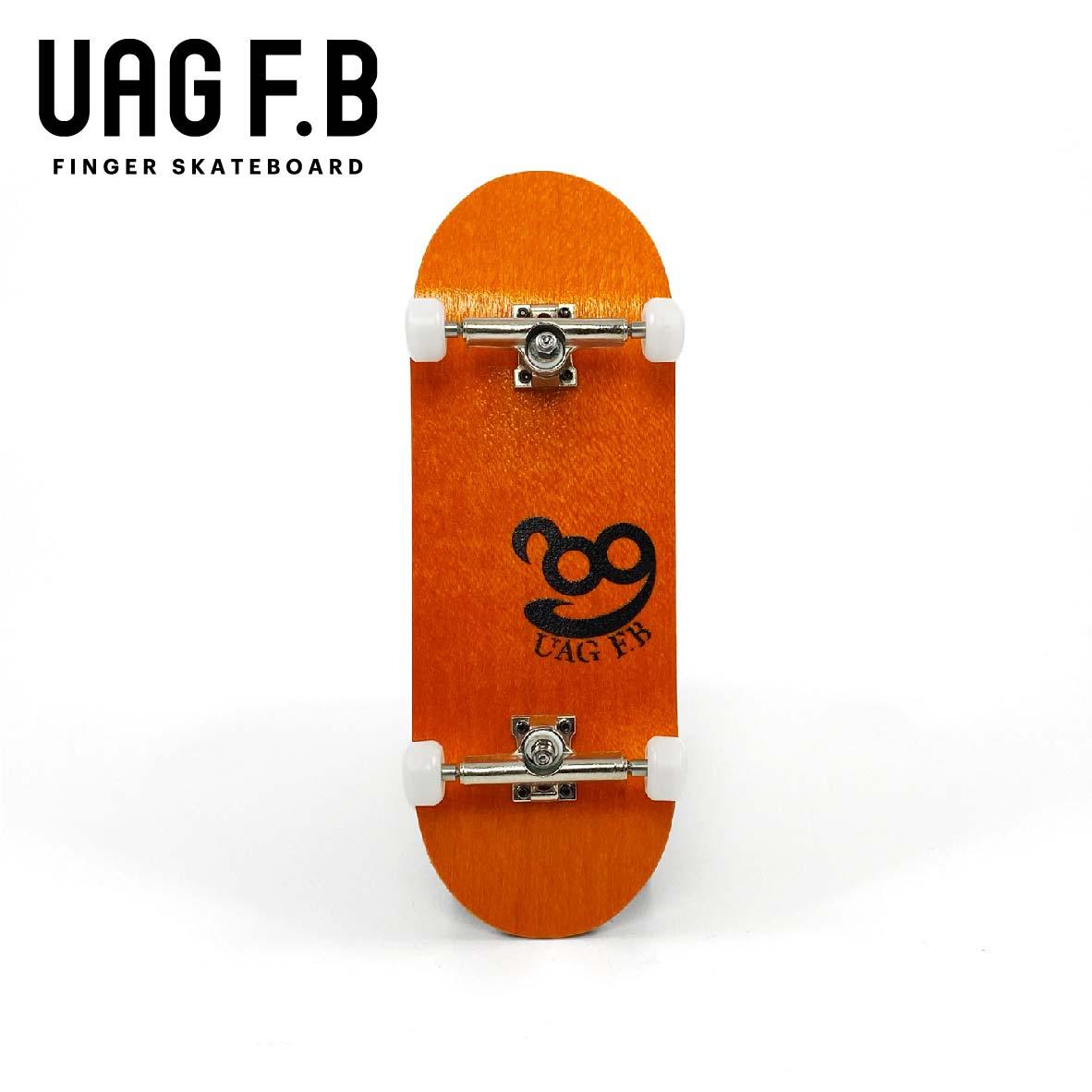 これから始めたい方にオススメ 返品不可 価格とクオリティーにこだわったUAG F.Bの定番モデル UAG F.B 《UAG コンプリート》 Simple オンラインショッピング ver- 指スケ オレンジ finger board skate -slim