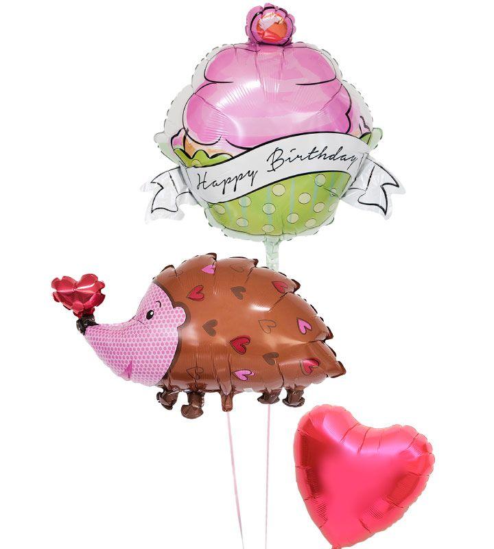 【土日祝営業】誕生日 バルーン ギフト 浮いて届く ヘリウムガス入り 電報 バースデー お祝い パーティー 飾り 付け プレゼント 風船 誕生日ブーケ130 バルーンアート【楽ギフ_メッセ入力】【あす楽_年中無休】