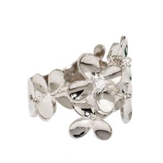 ダイヤモンド 現金特価 ◆セール特価品◆ リング SV925 クローバーモチーフ