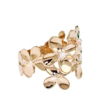 ダイヤモンド 当店は最高な サービスを提供します リング クローバーモチーフ 価格 交渉 送料無料 K10YG