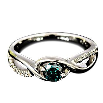 ブルーダイヤモンド リング 0.3ct 【K18WG】