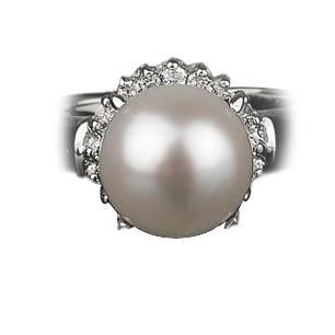 格安激安 アコヤ パール リング 9mm 真珠 新作多数 K18WG