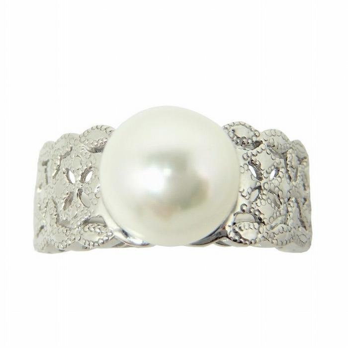アコヤ パール リング セール価格 Pt100 ご注文で当日配送 8.5mm 真珠