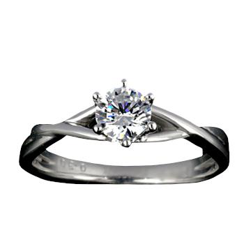 『Pt900空枠』婚約指輪用空枠6本爪タイプ0.3ct ダイヤモンド用【Pt900】