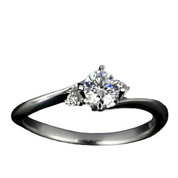 『Pt900空枠』婚約指輪用空枠4本爪タイプ0.2ct ダイヤモンド用【Pt900】
