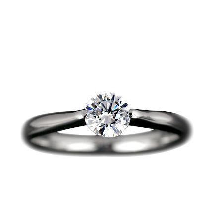 『Pt900空枠』婚約指輪用爪無しタイプ0.3ct ダイヤモンド用【Pt900】