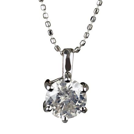 ダイヤモンド ペンダント 新発売 1.0ct 一粒 セール 登場から人気沸騰 K18WG