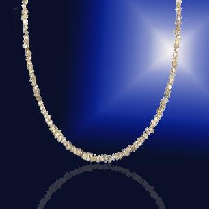 ダイヤモンド 原石ネックレス【K18WG】