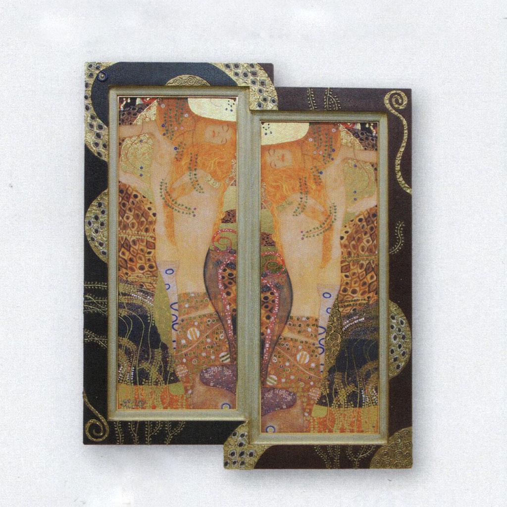 絵画 額入り 水蛇 グスタフ・クリムト Gustav Klimt/シルク印刷 インテリア 壁 おしゃれ 壁掛け リビング 寝室 新築祝い 開業祝い 開店祝い